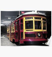 Antique Streetcar Poster