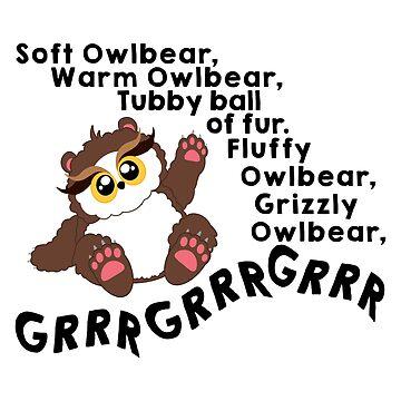 Soft Owlbear - Grrr Grrr Grrr by whimsyworks