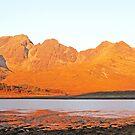 Blaven At Sunrise Across Loch Slapin by ScotLandscapes