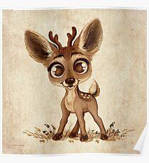 Doodles by David Kawena - Deer Poster
