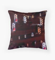 Traffic Light Abstraction Throw Pillow