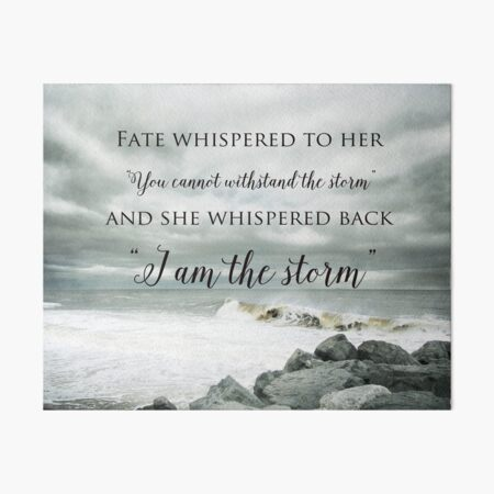Fate Whispered to Her Art Board Print