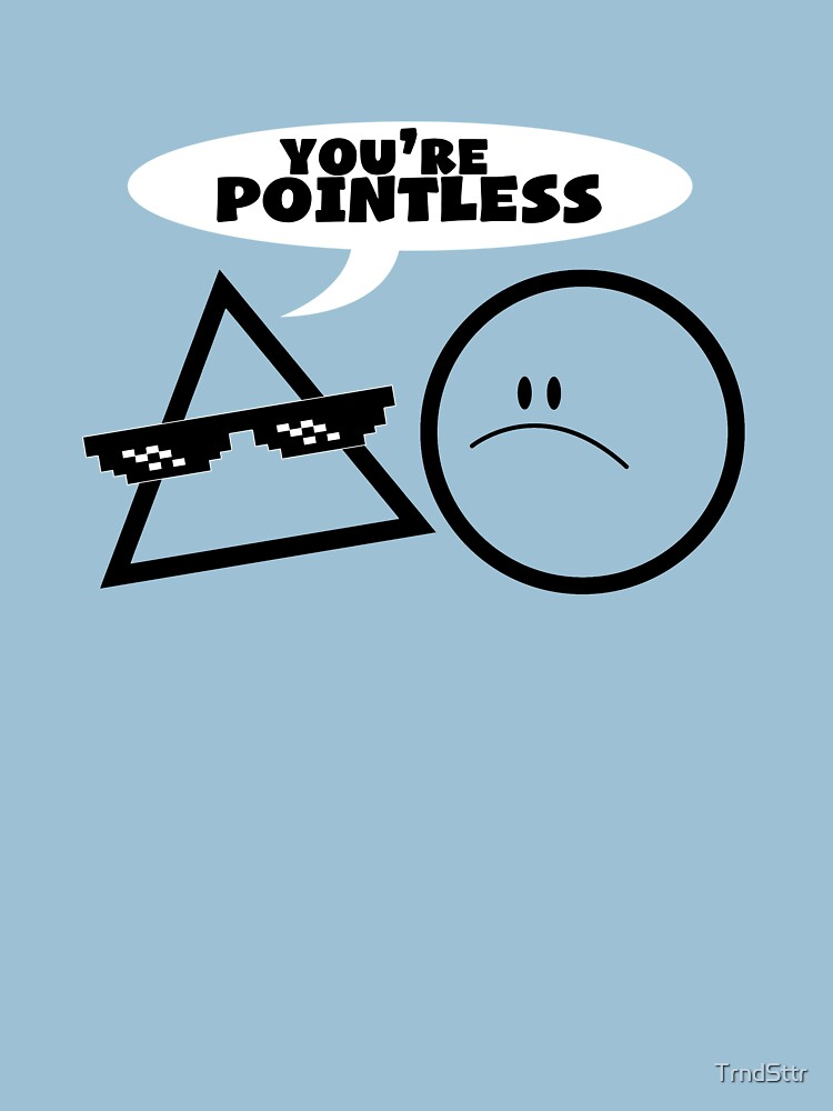 Math Gift – Pointless Geometry Pun by TrndSttr