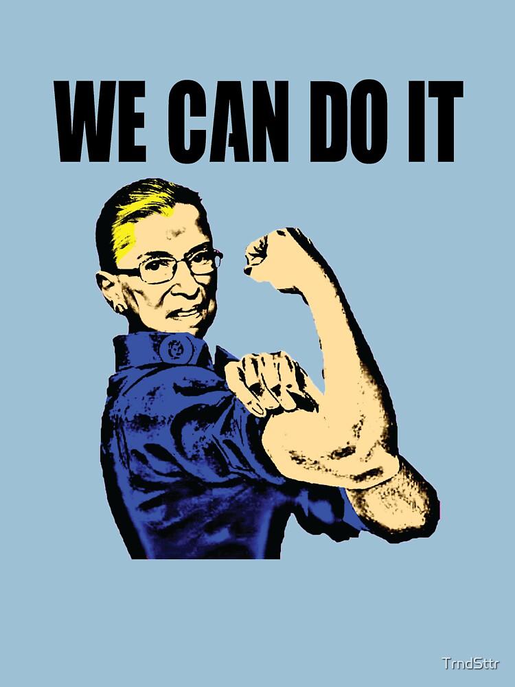 Notorious RBG Ruth Bader Ginsburg We Can Do It Pop Art by TrndSttr