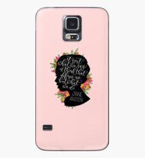 Jane Austen Zitat Hülle & Klebefolie für Samsung Galaxy