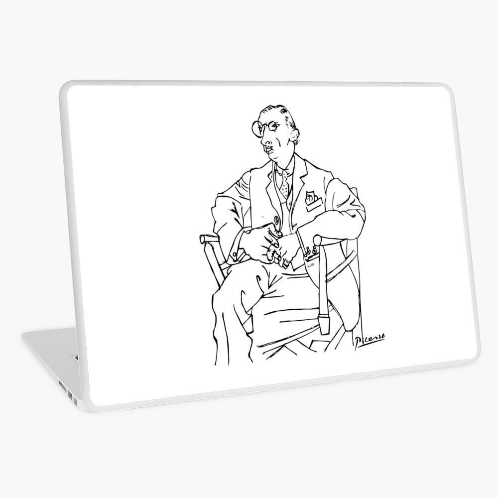 Pablo Picasso Igor Stravinsky Retrato Camiseta, Reproducción Vinilo para portátil