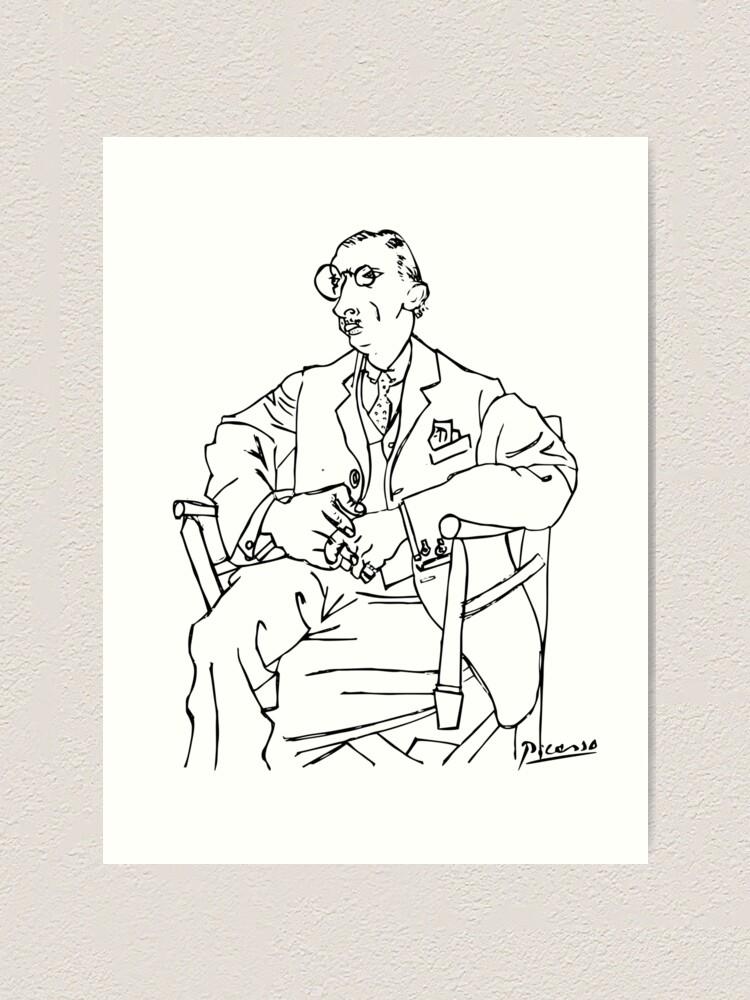 Alternate view of Pablo Picasso Igor Stravinsky Portrait T Shirt, Reproduction Art Print