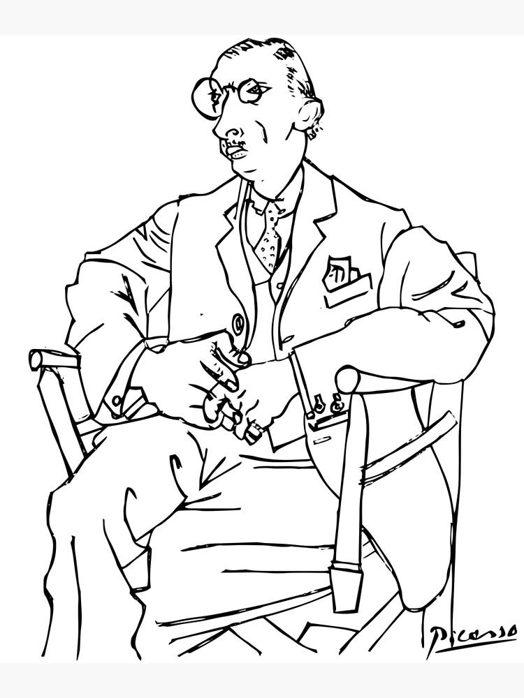 Pablo Picasso Igor Stravinsky Portrait T Shirt, Reproduction by clothorama