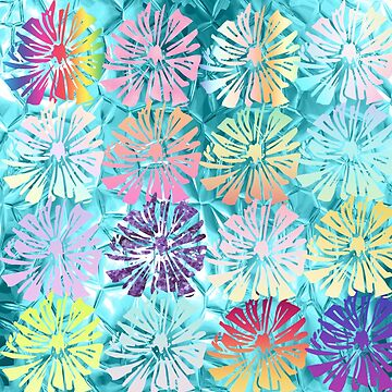 Beautiful,floral,spring,tourquise,metallic,pattern,summer,flowers, girly,wedding by love999