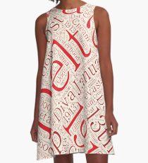 Delta Diva Word Art A-Line Dress
