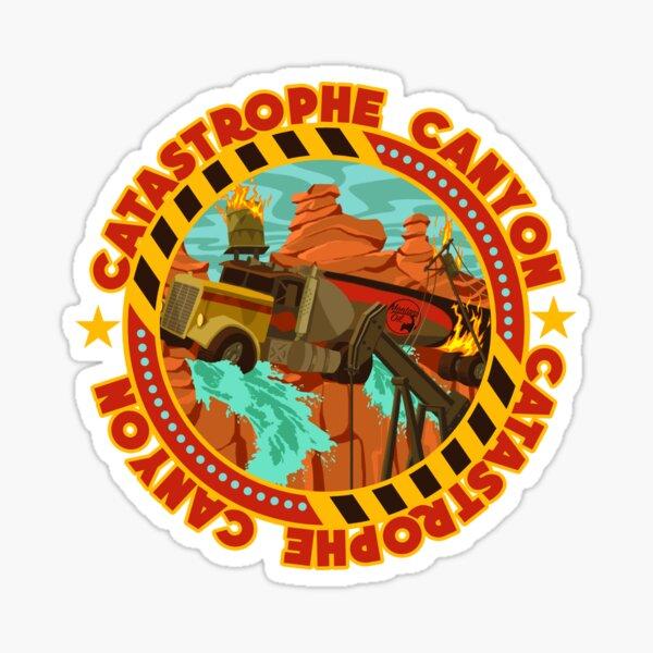 Studio Backlot Tour - Catastrophe Canyon Sticker