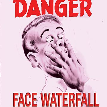 Danger Face Waterfall !!!  by VelcroFathoms