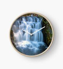 Waterfall along Sunbeam Creek in Mt Rainier National Park WA State Clock
