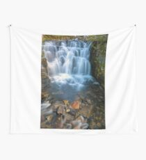 Waterfall along Sunbeam Creek in Mt Rainier National Park WA State Wall Tapestry