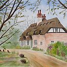 Thatched Roof Cottage  by Jeno Futo