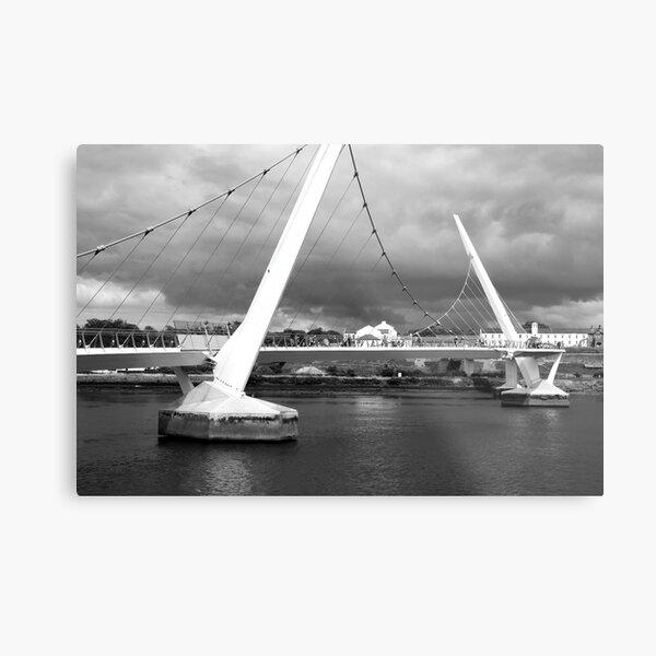 Peace Bridge, Derry, N. Ireland Metal Print
