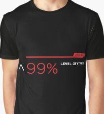 99% stress white Graphic T-Shirt