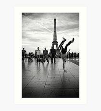 breaking paris Art Print