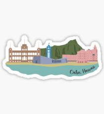 Honolulu, Oahu, Hawaii Landmark Sticker Sticker
