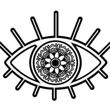 Mandala Evil Eye  by aterkaderk