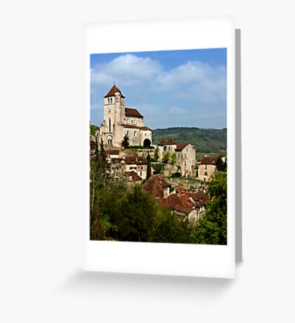 St. Cirq Lapopie on the Lot River, France Greeting Card