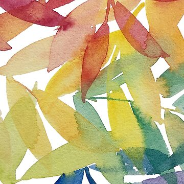 Rainbow Watercolour Leaves - Colourful Leaves - Marlene Makes by MarleneMakes