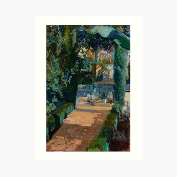 Joaquin Sorolla y Bastida Corner of the Garden, Alcazar, Sevilla  Art Print