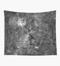 When The Stars Are Right - The Seagull Nebula In Canis Major (b&w version) Wall Tapestry