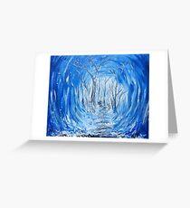 Deep Frozen Woods Original Painting Greeting Card