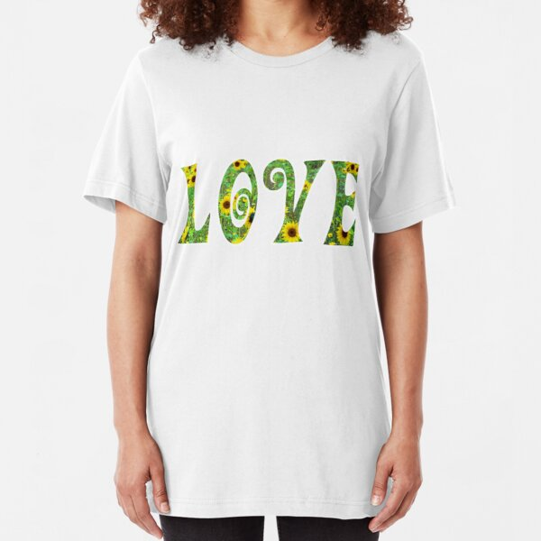 Sunflower Hippy Love Slim Fit T-Shirt