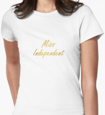 Ne-Yo - Miss Independent Women's Fitted T-Shirt