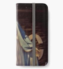 Graceful Virgin Mary Statue outside the Knights of Columbus in North Arlington, New Jersey iPhone Wallet/Case/Skin