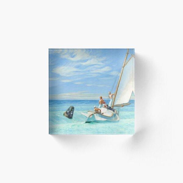 Edward Hopper Ground Swell 1939 Painting | Sailing Boats Sails  Acrylic Block