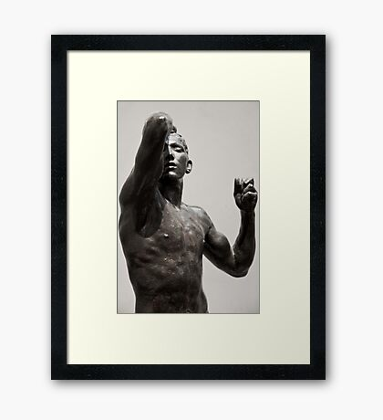 posed in stone Framed Print