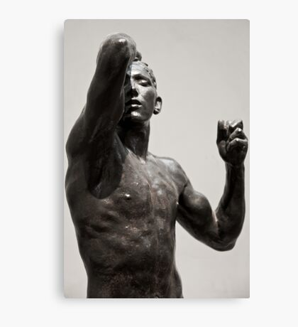 posed in stone Canvas Print