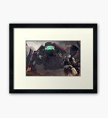 Scarab Halo Framed Print