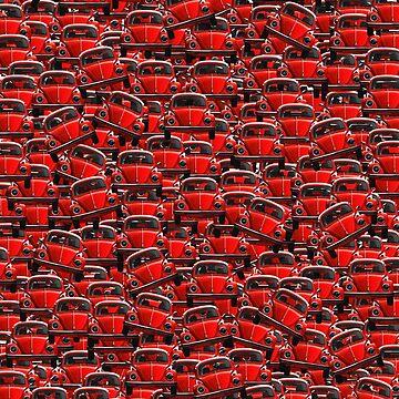 Volks Beetle pattern - Red by benbdprod