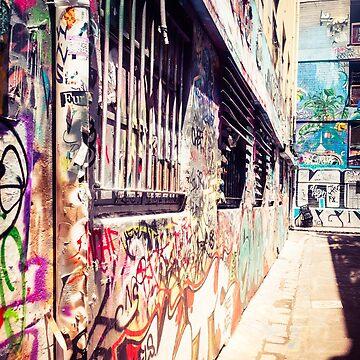 Melbourne Alleyway Graffiti by urbanfragments