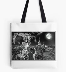 Bruce Springsteen Lyric Tribute New York City Serenade Ed 2. WallsOfFameAust Tote Bag