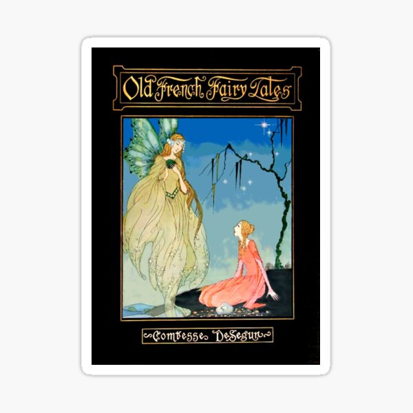 Old French Fairy Tales Victorian Art Sticker