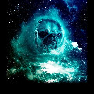 Pug In Space Shirt Pug Astronaut Galaxy Trippy Sci fi Tshirt by cgocgy