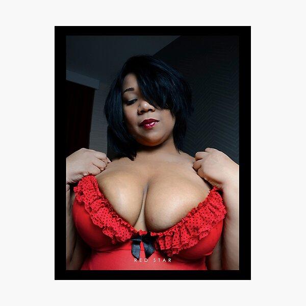 sexy plus bbw thick plussize ebony curves curvy Photographic Print