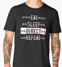 Gift for Directors Eat Sleep Direct Repeat  Men's Premium T-Shirt
