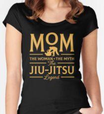 Mom The Woman The Myth The Jiu-Jitsu Legend Women's Fitted Scoop T-Shirt