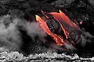 Lava Flow at Kalapana 6 by Alex Preiss