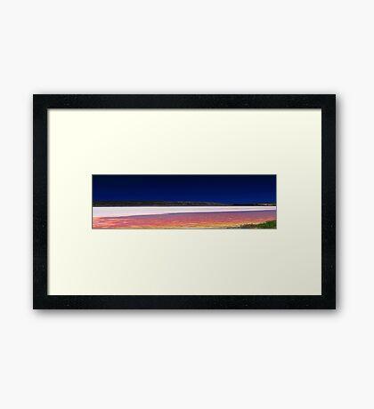 Hutt Lagoon - Western Australia  Framed Print