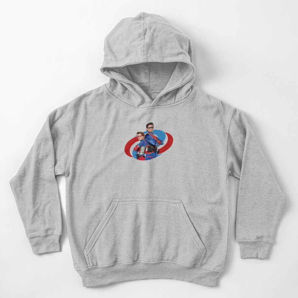 Captain Man and Kid Danger Kids Pullover Hoodie