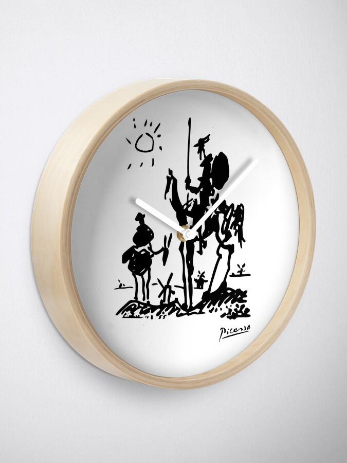 Alternate view of Pablo Picasso Don Quixote 1955 Artwork Shirt, Reproduction Clock