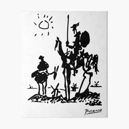 Pablo Picasso Don Quixote 1955 Artwork Shirt, Reproduction Art Board Print