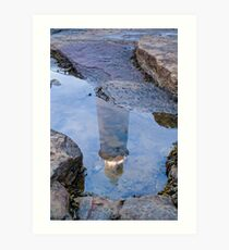 LIGHTHOUSE IN THE ROCKPOOL Art Print